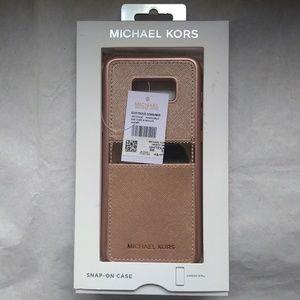Michael Kors Saffiano Case Rose Gold Samsung S8+
